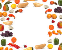 Fall-Lebensmittel-Ernte-Rahmen Stockbilder