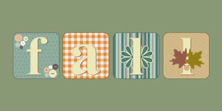 Fall lettering illustration Stock Image