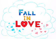 Fall in Liebe Lizenzfreie Stockfotos