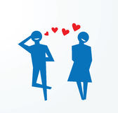 Fall in Liebe, Liebeskonfektionsartikel Lizenzfreie Stockbilder