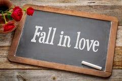 Fall in love advice  on blackboard Stock Photo