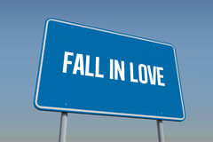 Fall in love against blue sky Royalty Free Stock Photography