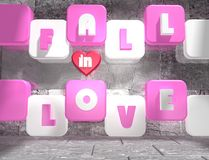 Fall in love background Stock Photo
