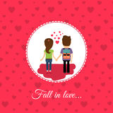 Fall in love couple Royalty Free Stock Image