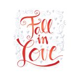 Fall in love. Hand lettering Royalty Free Stock Image