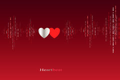 Fall in love heart beats cardiogram design. Stock Photo