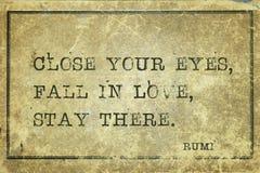 Fall in love Rumi Royalty Free Stock Photo