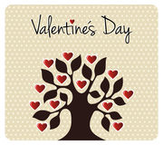 Fall in love Valentines day tree Royalty Free Stock Images