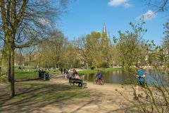 Fall in love in the Vondelpark, Amsterdam. royalty free stock images