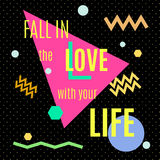 Fall in the love with your life. Royalty Free Stock Photography