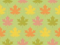 Fall maple leaves - Seamless knitting pattern Royalty Free Stock Photo