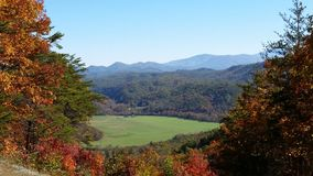 Fall in maryville Tennessee great smoky mountains overlook Royalty Free Stock Image