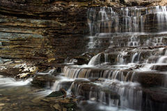 Fall For Me. Cascade Waterfall and rocky gorge Stock Photos