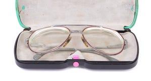Fall med tappningexponeringsglas arkivbild