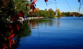 Fall on Michigan Lake Stock Image