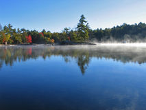 Fall Mist. A cold morning on Jack Lake in the early fall Royalty Free Stock Photography