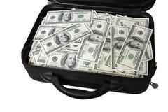 Fall mit Geld Stockfotos