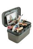 Fall mit verschiedenen Kosmetik lizenzfreies stockfoto