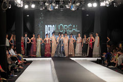 Fall-Mode-Woche 2012 des Pakistan-Mode-Design-Rats-(PFDC) Lizenzfreies Stockfoto