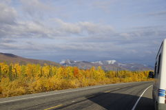 Fall Motor Home Travel Stock Photos