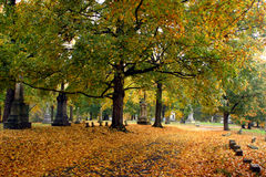 Fall in Mount Olivet Cemetery Stock Photo