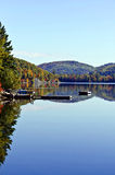 Fall Mountain Colours Reflected in Lake Stock Photos