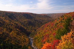 Fall Mountain Scenic. Fall colors are at peak in the hills of West Virginia Stock Photo
