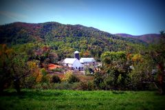 Fall in the Mountains. A farm in the mountains during the fall season Royalty Free Stock Photography