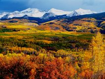 Kebler Pass Fall Mountains. Kebler Pass near Crested Butte, Colorado Royalty Free Stock Image