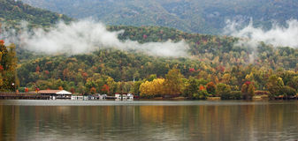 Fall in the Mountains of North Carolina Panorama Royalty Free Stock Photo