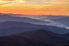 Fall in Nationalpark Great Smoky Mountains Stockbild