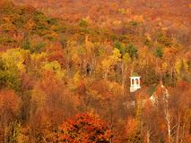 Fall in New England. Church in new England during the Fall stock image