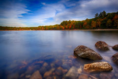 Fall in New England. A beautiful Autumn scene in Massachusetts, New England Royalty Free Stock Photos