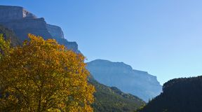 Fall in the Ordesa y Monte Perdido National Park Stock Photo