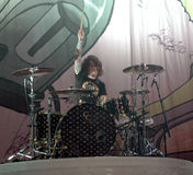 Fall Out Boy drummer Andy Hurl Royalty Free Stock Images