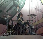 Fall Out Boy-Vertreter Andy schleudern lizenzfreie stockbilder