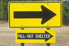 Fall out Shelter sign Stock Images