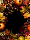 Fall oval border wreath Royalty Free Stock Photos
