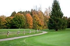 Fall på golfcoursen arkivfoton