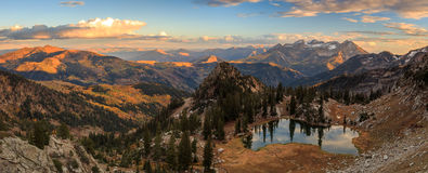 Fall panoramic  landscape in the Wasatch Mountains. Stock Photo