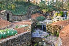 Fall-Park-Garten im Stadtzentrum gelegenes Greenville South Carolina Lizenzfreie Stockfotos