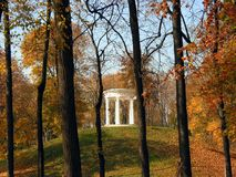 Fall park with gazebo Stock Photos