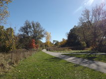 Fall Path. Path and a great trail around it in London, Ontario, Canada Stock Photos