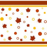 Fall pattern. Framed fall leaves and circles pattern Royalty Free Stock Photography