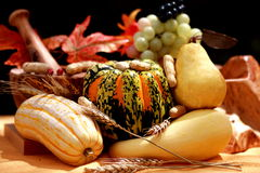 Fall pears and pumpkins. Still life with fall pears and pumpkins Stock Image