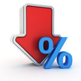 Fall of percent rate Royalty Free Stock Image