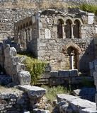 Byzantine Ruins. This is a Fall picture of Byzantine Ruins located in Ancient Corinth, Greece. These ruins are located above the Fountain of Pereine. This stock images
