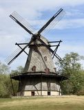 Dutch Smock Mill. This is a Fall picture of Fabyan Windmill, an authentic Dutch Windmill located in Geneva, Illinois in Kane County.  This wood Windmill was Stock Photos