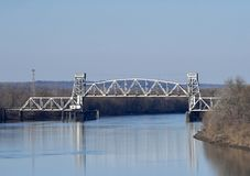 KSC-Illinois River Bridge. This is a Fall picture of the KSC-Illinois River Bridge located connecting Greene and Pike Counties in Illinois. This is a through stock image
