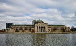 South Side of the Chicago Museum of Science and Industry. This is a Fall picture of the South side of the historic Chicago Museum of Science and Industry in royalty free stock photos